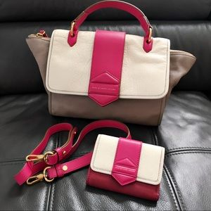 Marc Jacobs Flipping Out Satchel Bag + Wallet